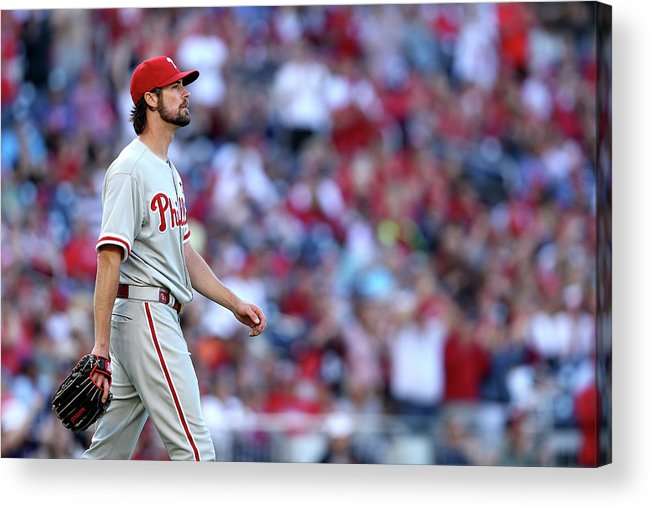 Three Quarter Length Acrylic Print featuring the photograph Cole Hamels by Patrick Smith