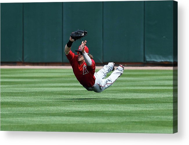 American League Baseball Acrylic Print featuring the photograph Collin Cowgill by Sarah Crabill