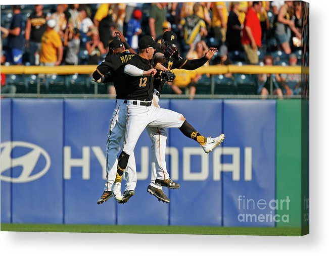 People Acrylic Print featuring the photograph Corey Dickerson and Starling Marte by Justin K. Aller