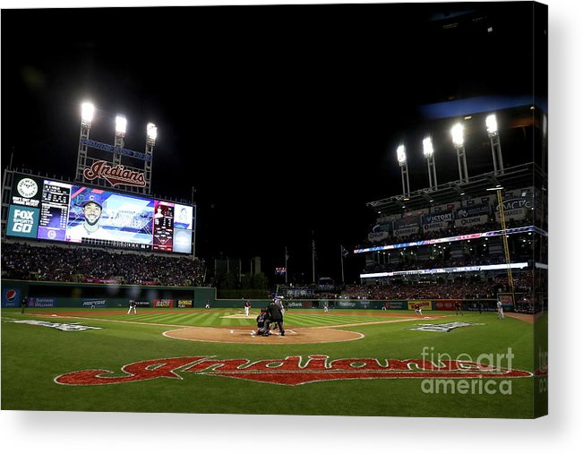 People Acrylic Print featuring the photograph Corey Kluber by Elsa