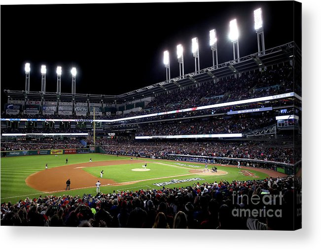 People Acrylic Print featuring the photograph Corey Kluber by Ezra Shaw