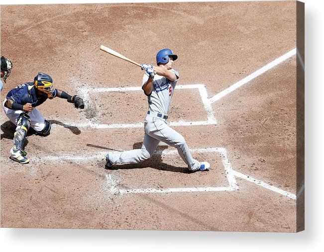 People Acrylic Print featuring the photograph Corey Seager by Joe Robbins