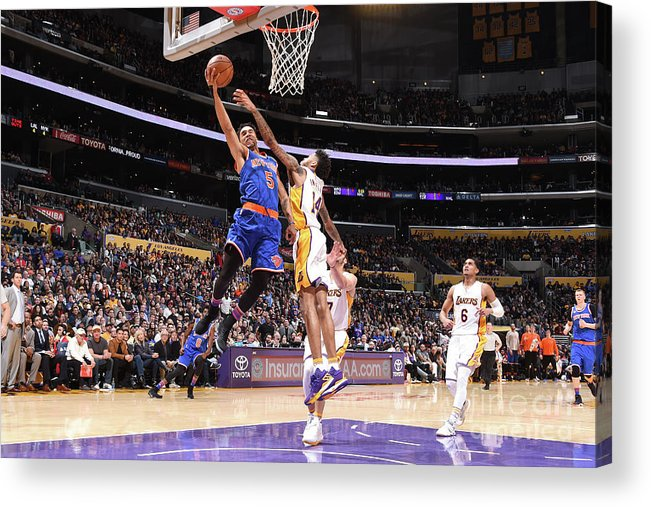 Nba Pro Basketball Acrylic Print featuring the photograph Courtney Lee by Andrew D. Bernstein