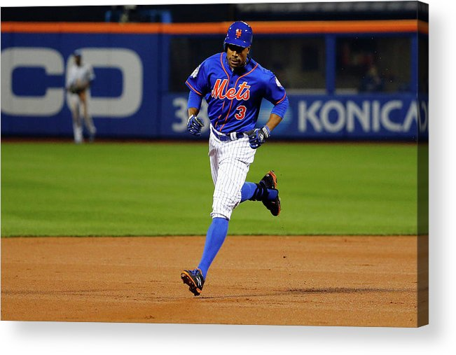 People Acrylic Print featuring the photograph Curtis Granderson by Al Bello