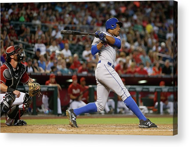 People Acrylic Print featuring the photograph Curtis Granderson by Christian Petersen