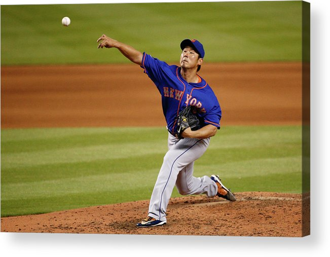 American League Baseball Acrylic Print featuring the photograph Daisuke Matsuzaka by Rob Foldy