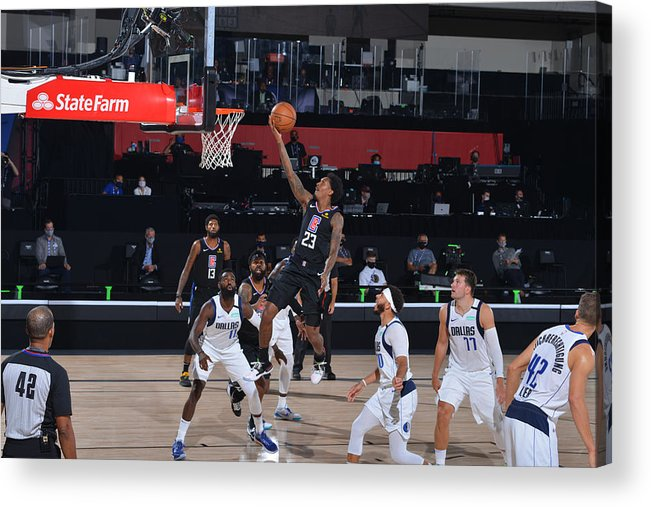 Playoffs Acrylic Print featuring the photograph Dallas Mavericks v LA Clippers - Game One by David Sherman