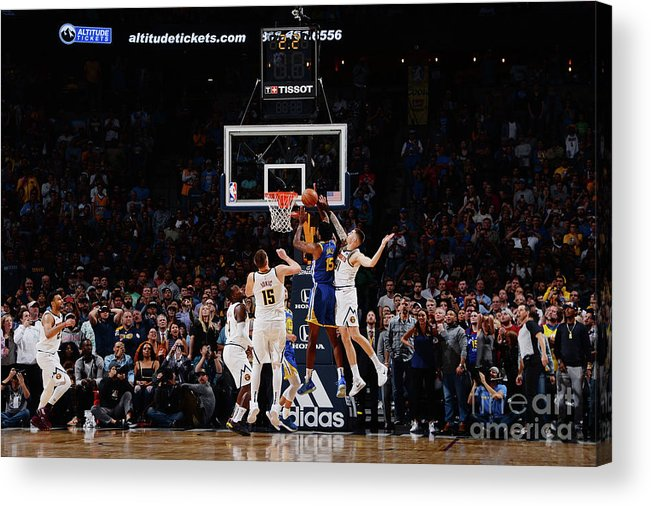 Nba Pro Basketball Acrylic Print featuring the photograph Damian Jones by Bart Young