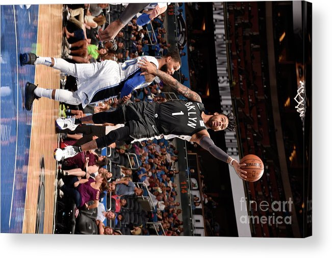 Nba Pro Basketball Acrylic Print featuring the photograph D'angelo Russell by Gary Bassing