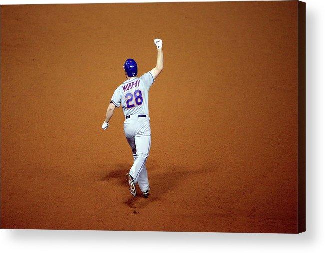 Daniel Murphy - Baseball Player Acrylic Print featuring the photograph Daniel Murphy and Fernando Rodney by Jon Durr