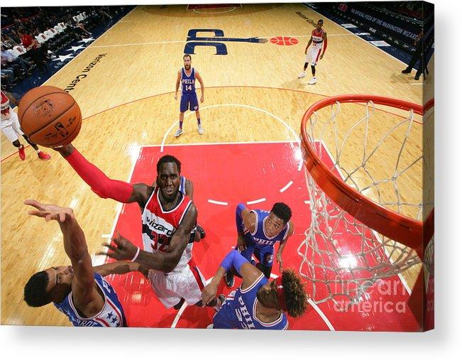 Nba Pro Basketball Acrylic Print featuring the photograph Daniel Ochefu by Ned Dishman
