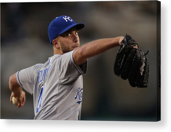 Second Inning Acrylic Print featuring the photograph Danny Duffy by Jeff Gross
