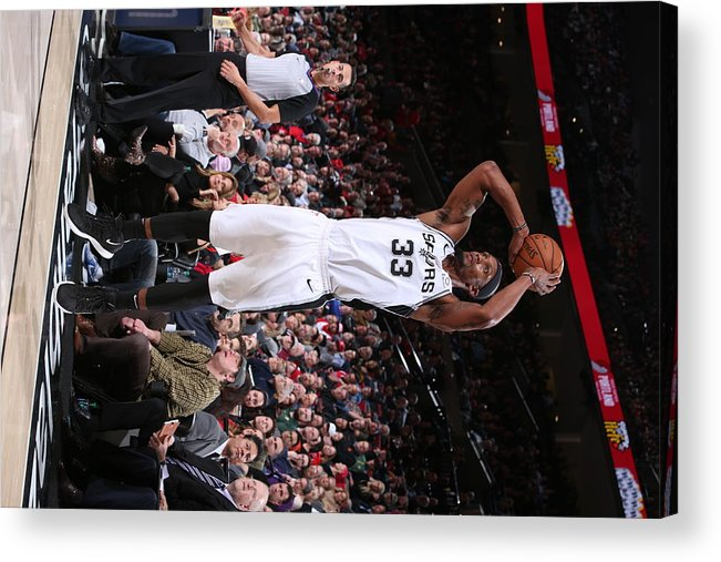 Nba Pro Basketball Acrylic Print featuring the photograph Dante Cunningham by Sam Forencich