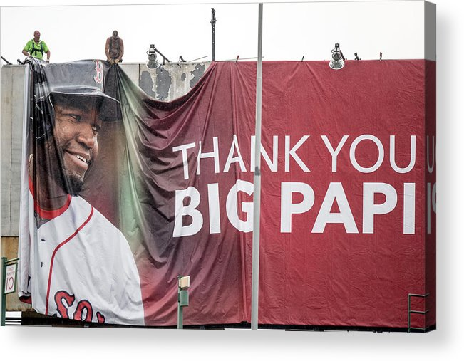 American League Baseball Acrylic Print featuring the photograph David Ortiz by Billie Weiss/boston Red Sox