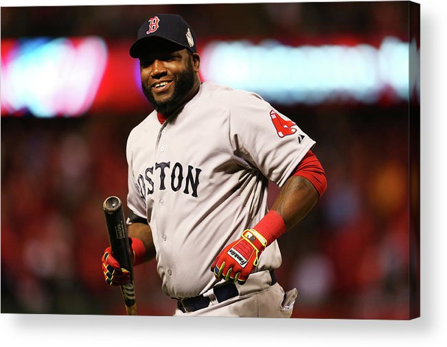 American League Baseball Acrylic Print featuring the photograph David Ortiz by Ronald Martinez