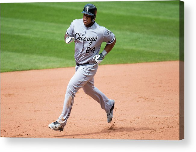 Ninth Inning Acrylic Print featuring the photograph Dayan Viciedo by Jason Miller