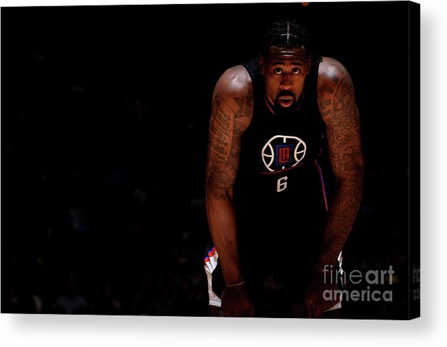 Nba Pro Basketball Acrylic Print featuring the photograph Deandre Jordan by Bart Young