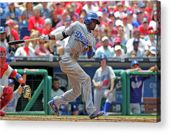 Second Inning Acrylic Print featuring the photograph Dee Gordon by Hunter Martin