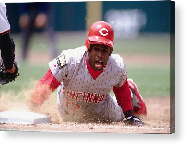 Motion Acrylic Print featuring the photograph Deion Sanders by Ronald C. Modra/sports Imagery