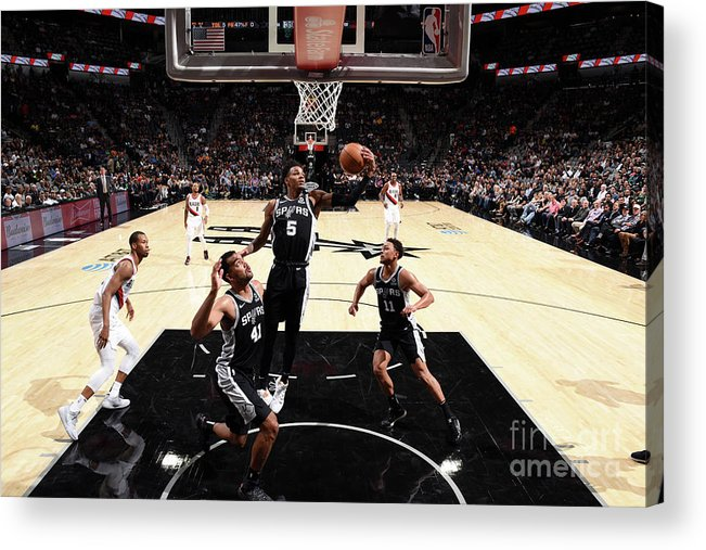 Nba Pro Basketball Acrylic Print featuring the photograph Dejounte Murray by Garrett Ellwood