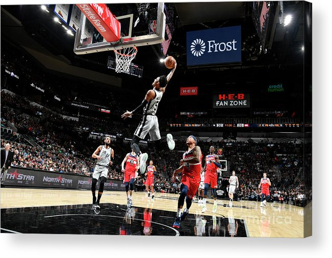 Nba Pro Basketball Acrylic Print featuring the photograph Dejounte Murray by Logan Riely