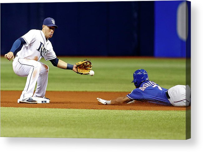 People Acrylic Print featuring the photograph Delino Deshields by Brian Blanco