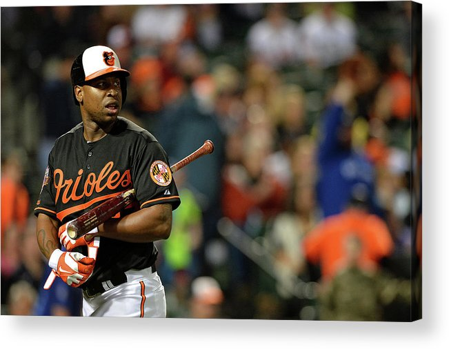American League Baseball Acrylic Print featuring the photograph Delmon Young by Patrick Smith
