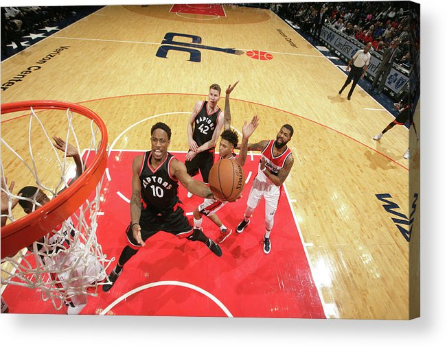 Nba Pro Basketball Acrylic Print featuring the photograph Demar Derozan by Ned Dishman