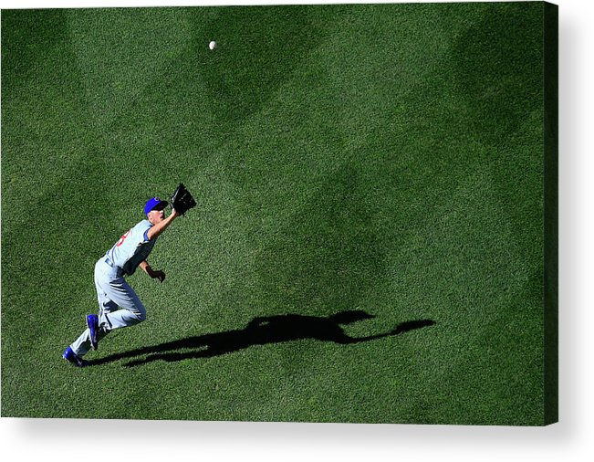American League Baseball Acrylic Print featuring the photograph Denard Span and Chris Rusin by Rob Carr