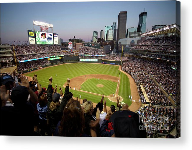 American League Baseball Acrylic Print featuring the photograph Denard Span by Bruce Kluckhohn