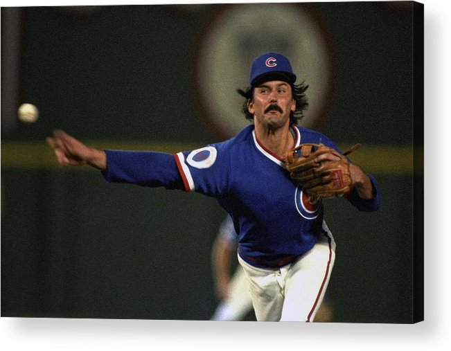 1980-1989 Acrylic Print featuring the photograph Dennis Eckersley by Ronald C. Modra/sports Imagery