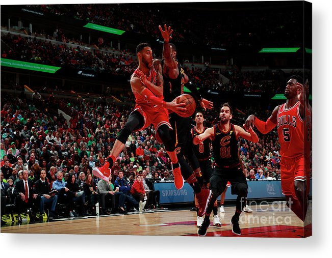 United Center Acrylic Print featuring the photograph Denzel Valentine by Jeff Haynes