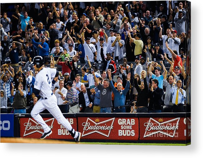 People Acrylic Print featuring the photograph Derek Jeter by Alex Goodlett