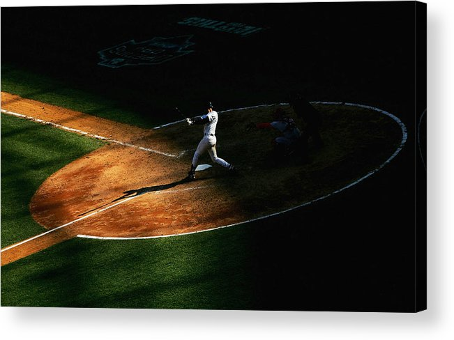 People Acrylic Print featuring the photograph Derek Jeter by Ezra Shaw