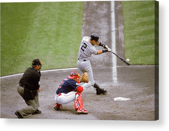 People Acrylic Print featuring the photograph Derek Jeter by John Reid Iii