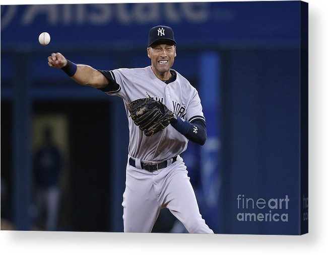 Ninth Inning Acrylic Print featuring the photograph Derek Jeter by Tom Szczerbowski