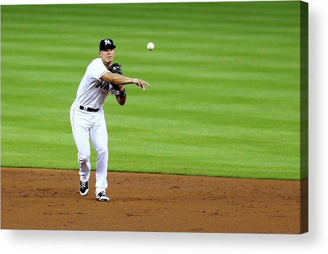 American League Baseball Acrylic Print featuring the photograph Derek Parks by Alex Trautwig