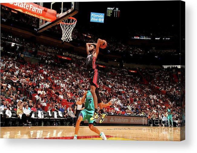 Nba Pro Basketball Acrylic Print featuring the photograph Derrick Jones by Issac Baldizon