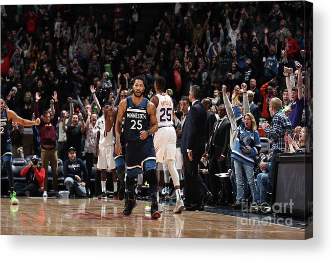 Nba Pro Basketball Acrylic Print featuring the photograph Derrick Rose by Jordan Johnson