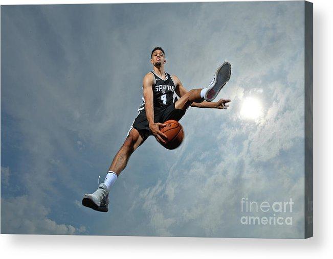 Nba Pro Basketball Acrylic Print featuring the photograph Derrick White by Jesse D. Garrabrant