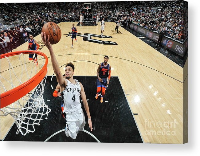 Nba Pro Basketball Acrylic Print featuring the photograph Derrick White by Mark Sobhani