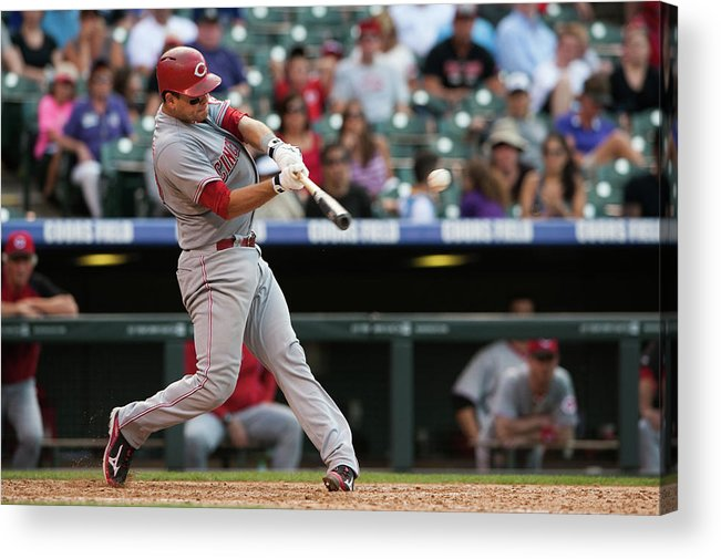 Ninth Inning Acrylic Print featuring the photograph Devin Mesoraco by Dustin Bradford