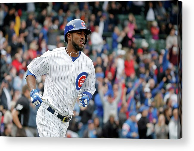 Three Quarter Length Acrylic Print featuring the photograph Dexter Fowler by Jon Durr