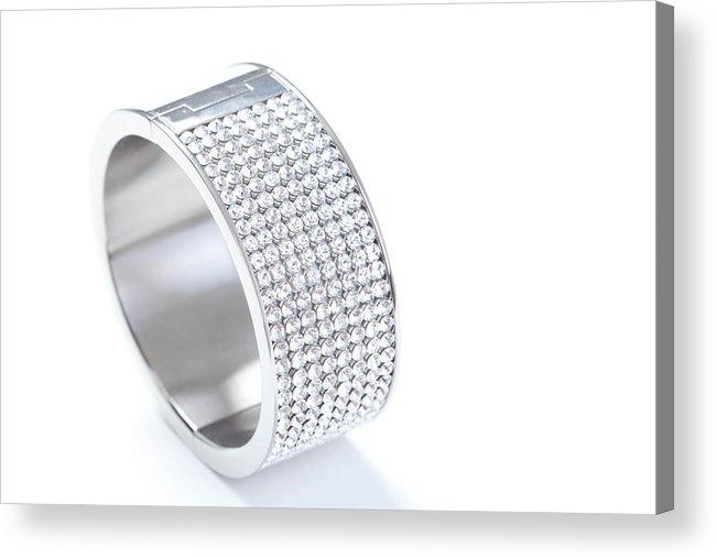 Gemstone Acrylic Print featuring the photograph Diamond Bracelet by Vitapix