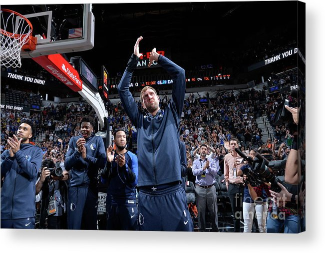 Nba Pro Basketball Acrylic Print featuring the photograph Dirk Nowitzki by Mark Sobhani