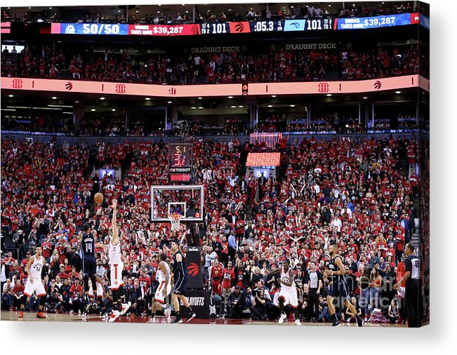 Playoffs Acrylic Print featuring the photograph D.j. Augustin by David Sherman