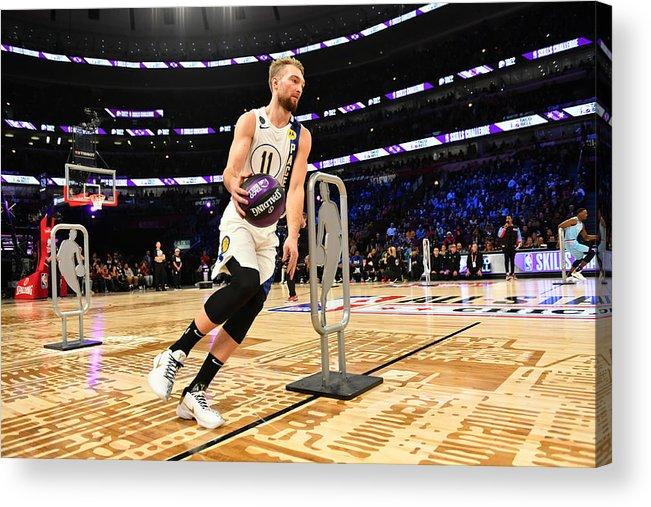 Nba Pro Basketball Acrylic Print featuring the photograph Domantas Sabonis by Jesse D. Garrabrant