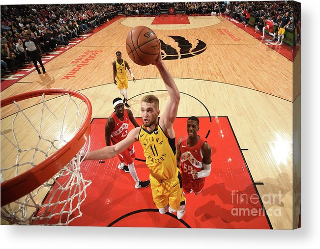 Nba Pro Basketball Acrylic Print featuring the photograph Domantas Sabonis by Ron Turenne