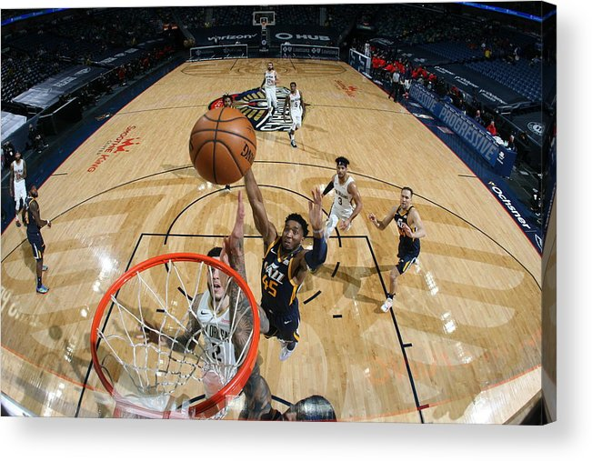 Smoothie King Center Acrylic Print featuring the photograph Donovan Mitchell by Layne Murdoch Jr.