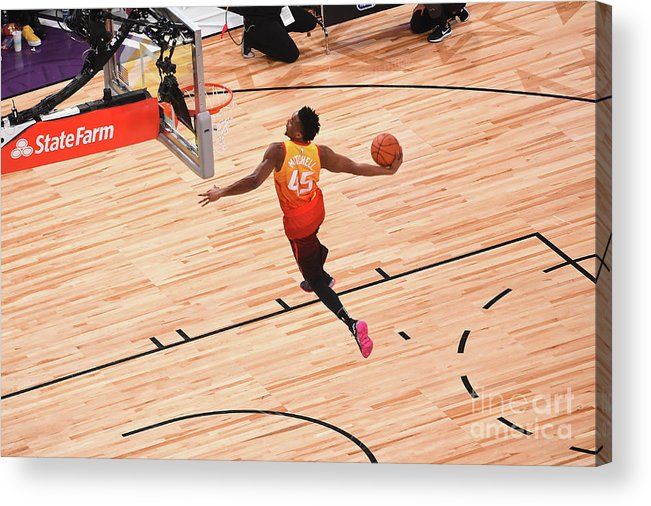Event Acrylic Print featuring the photograph Donovan Mitchell by Noah Graham